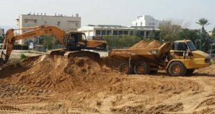 עבודות להקמת האיצטדיון. צילום: דוברות העירייה