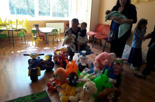 הצעצועים שחולקו לילדים באודסה (צילום עצמי)
