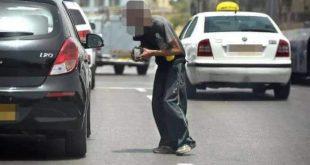 הקבצן אינו שוטר. התמונה שמופצת ברשתות החברתיות