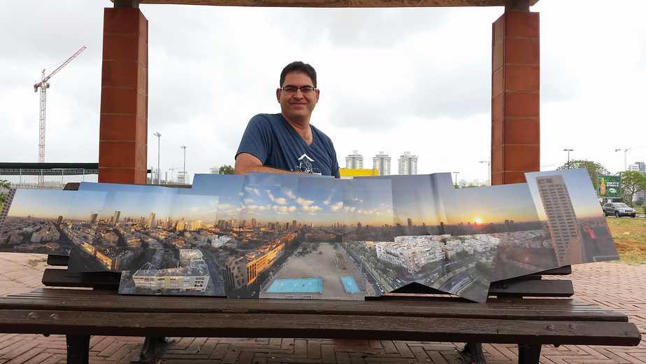 מבט פנורמי נתניה מוטי פנחסי צילום רותי ברמן
