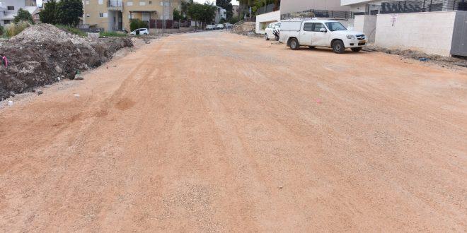 רחוב התאנים, עבודות שיפוץ. צילום: דוברות העירייה