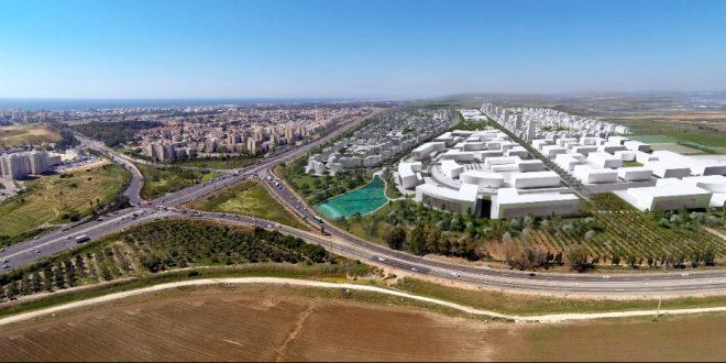 אזור התעשייה החדש שיוקם בעכו הדמיה מחשב