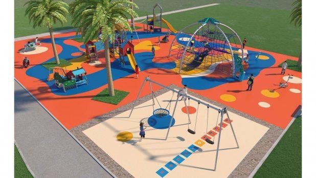 גן משחקים חדש. הדמייה: עיריית קרית אתא