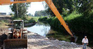 העבודות לשיקום הנחל צילום עיריית חדרה
