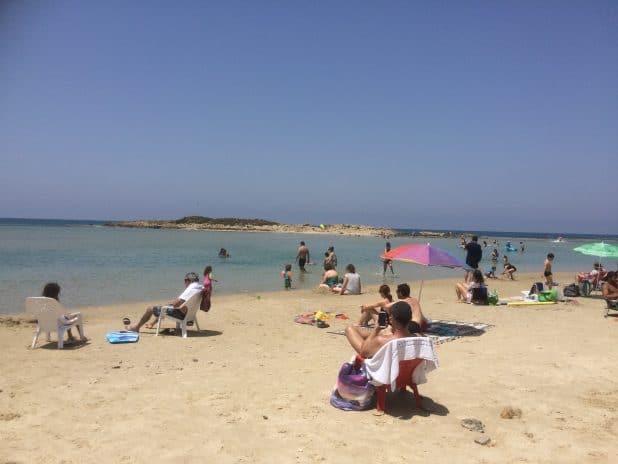 נקי בסך הכול. חוף דור (צילום: נירית שפאץ)
