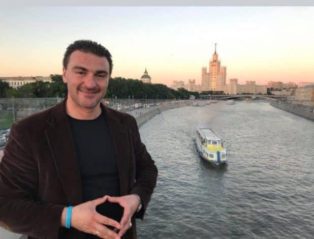 מיכאל גורביץ במוסקבה (צילום עצמי)