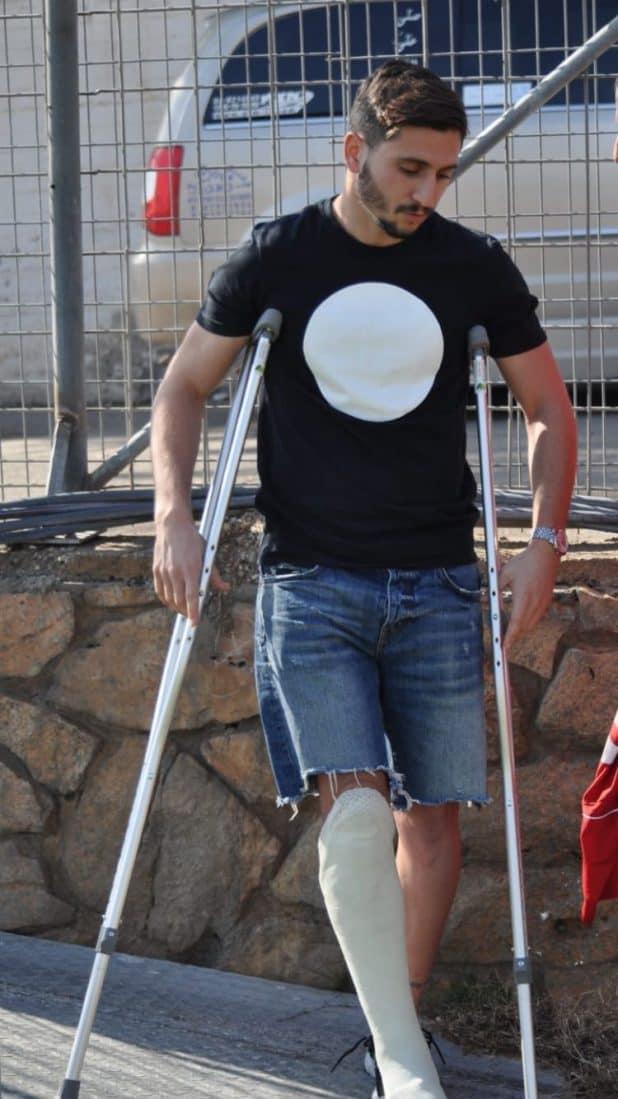 גל אלקנתי הפצוע בעונה שעברה (צילום חגאג רחאל)