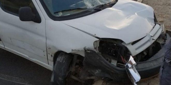 הרכב הפוגע- צילום משטרת ישראל