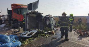 התאונה הקטלנית (צילום דוברות