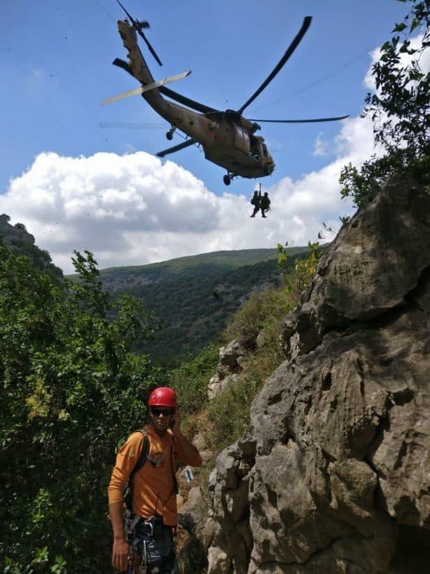 חילוץ התלמיד ברמת הגולן. צילום: דוברות המשטרה