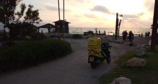 """טביעה בחוף נאות. צילום: תיעוד מבצעי מד""""א"""