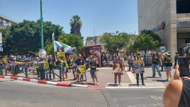 מחאת טבעונים חדרה 2 צילום פרטי