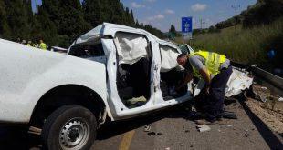 """רכבו של יוסי לוי ז""""ל לאחר התאונה הקלנית"""