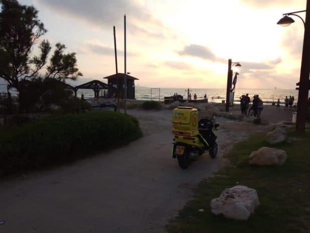 """חוף נאות קרית חיים צילום; מד""""א"""