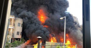 שריפה בשפרעם צילום: כיבוי אש מחוז צפון