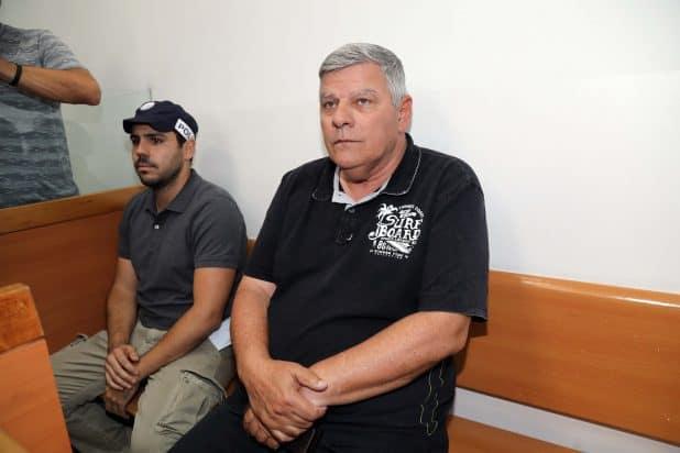 צביקה גנדלמן אתמול בהארכת מעצרו בבית המשפט(צילום: גדעון מרקוביץ)