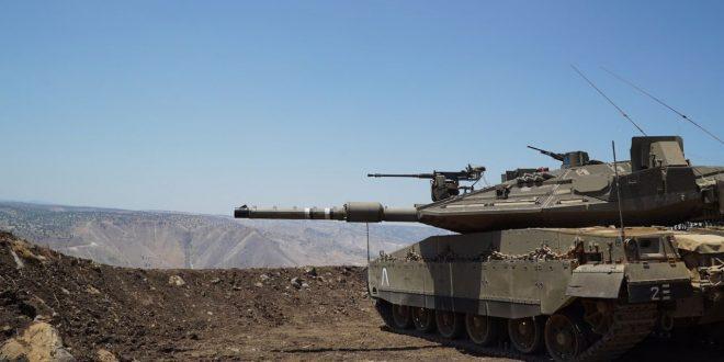 """היערכות צהל מול הגבול הסורי. צילום: דו""""צ"""