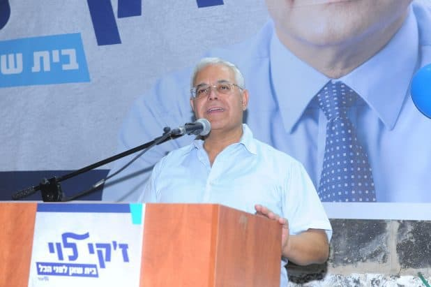 זקי לוי בהשקת קמפיין הבחירות (צילום עמירן עידו)