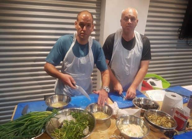 מאסטר שפים. רוני רובין ואמיר קלמר (צילום עצמי)