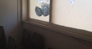 נזק לסניף הבית היהודי בקרית מוצקין. צילום: יחזקאל יואלי