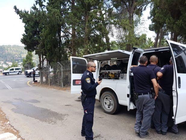 חבלני המשטרה בצפת - צילום משטרת ישראל