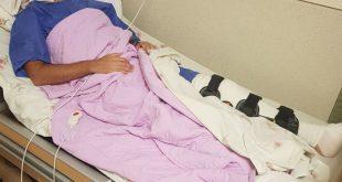 יובל שאוט לאחר הניתוח (צילום עצמי)