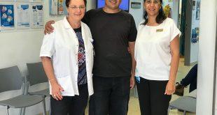 עמי בוזגלו מודה לצוות הרפואי (צילום עצמי)