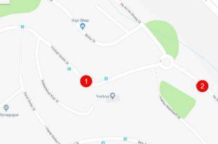 החלו עבודות התשתית ברחובות יצחק שדה והרצוג בקרית אתא מקור: מפות גוגל