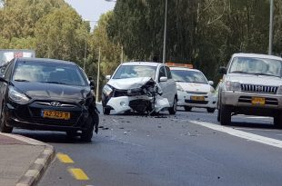התאונה השבוע בצומת הרכבת (צילום: פרטי)