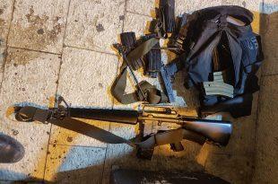 הנשק שנתפס. צילום: משטרת ישראל