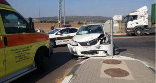 התאונה ברמת דוד (צילום איחוד הצלה)