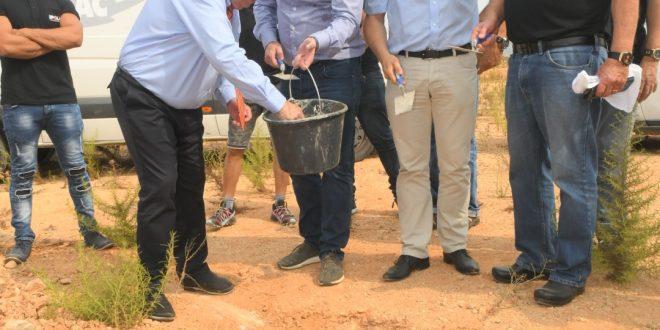 טקס הנחת אבן פינה במעמד ראש העיר רונן פלוט (צילום עצמי)