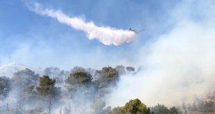 מטוסי הכבוי נלחמים באש (צילום דוברות והצלה)