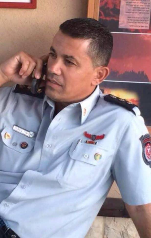 צוות בפיקודו השתלט על האש. אורן בוסקילה (צילום עצמי)