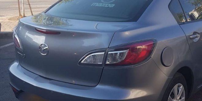רכבו של החשוד (צילום דוברות המשטרה)