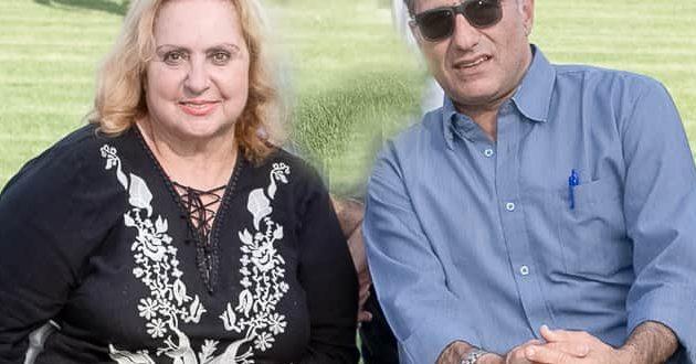 רינה גרינברג עם משה קונינסקי צילום אלכס הובר