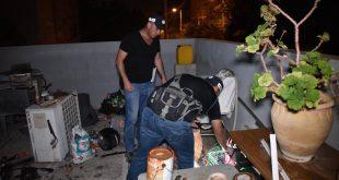 """רגע הפשיטה הבוקר על ידי הימ""""ר בחיפה (צילום: משטרת ישראל)"""