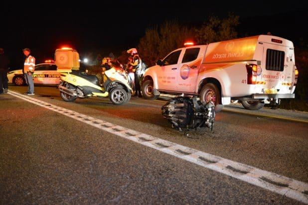 תאונה קטלנית כביש 854 כיוון תפן - צילום דוברות מדא