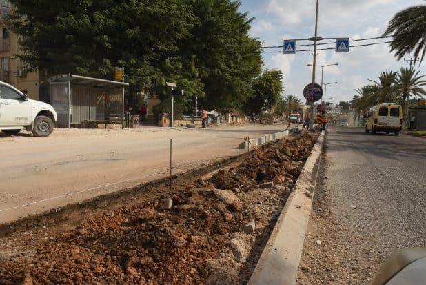 עבודות תשתית רחוב זבוטינסקי. צילום: דוברות העירייה