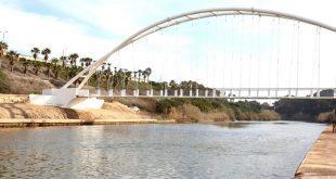 גשר הפארק בחדרה (צילום: עיריית חדרה)
