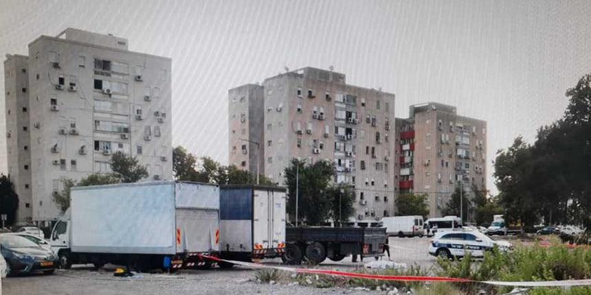 הקורבן נמצא בקרית חיים. צילום משטרת ישראל