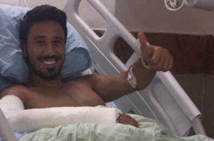 הקפטן הפצוע מוחמד פודי בבית החולים (צילום עצמי)
