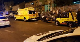 """זירת הרצח ברחוב נחום בנתניה. צילום: תיעוד מבצעי מד""""א"""