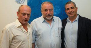 מימין לשמאל: מרלי, ליברמן ואפשטיין (צילום: דוד מושקין)