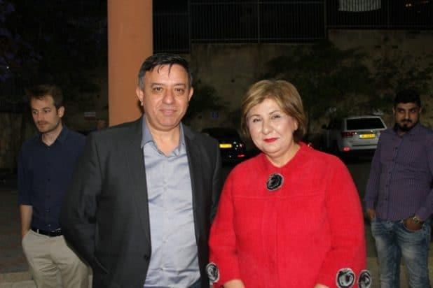 אלהאהם חאזן עם יור מפלגת העבודה אבי גבאי צילום פרטי