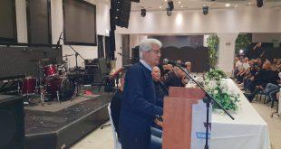 דוד לוי במסיבת הניצחון (צילום עצמי)