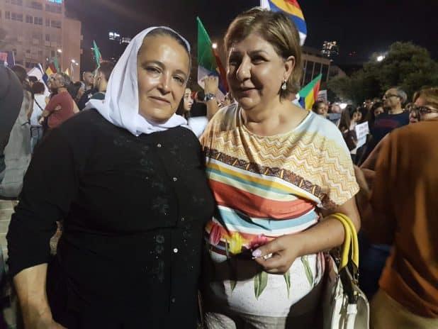 הפגנה בכיכר רבין נגד חוק הלאום בכיכר רבין צילום פרטי