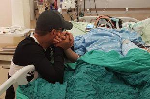 הפצועה בבית החולים צילום פרטי