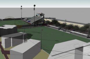 מגרש הכדורגל המתוכנן. הדמיה באדיבות העירייה
