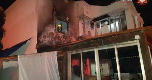 הבית בבית אליעזר בו פרצה השריפה. צילום: תחנת כיבוי חדרה
